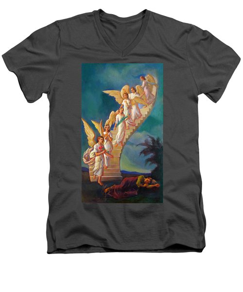 Jacob's Ladder - Jacob's Dream Men's V-Neck T-Shirt