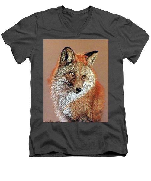 Jade Men's V-Neck T-Shirt by Linda Becker