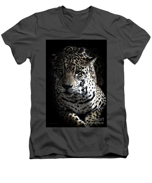 Jaguar Men's V-Neck T-Shirt