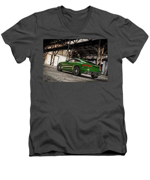 Jaguar F-type - British Racing Green - Rear View Men's V-Neck T-Shirt