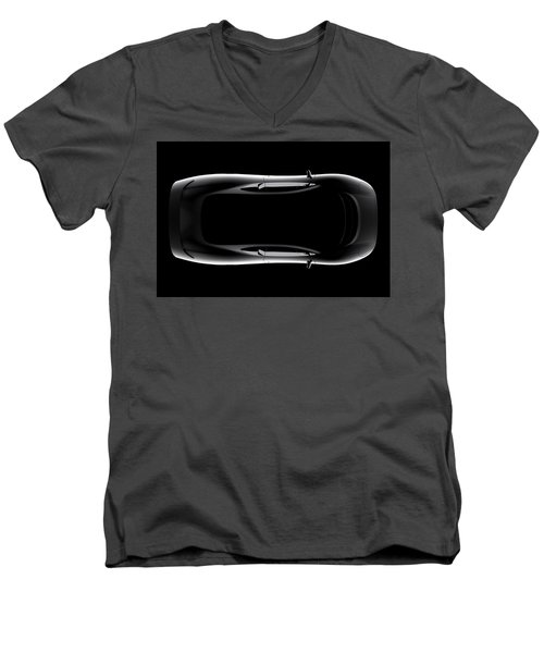 Jaguar Xj220 - Top View Men's V-Neck T-Shirt