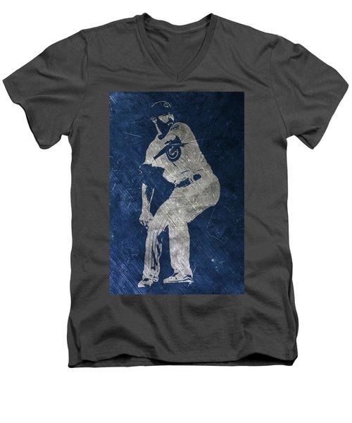Jake Arrieta Chicago Cubs Art Men's V-Neck T-Shirt