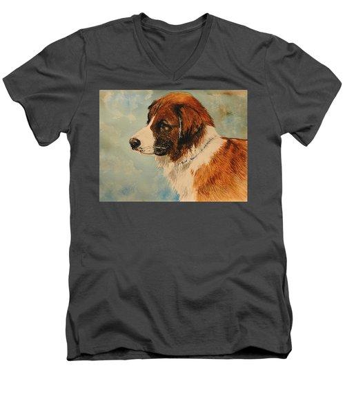 Jake Men's V-Neck T-Shirt by Betty-Anne McDonald