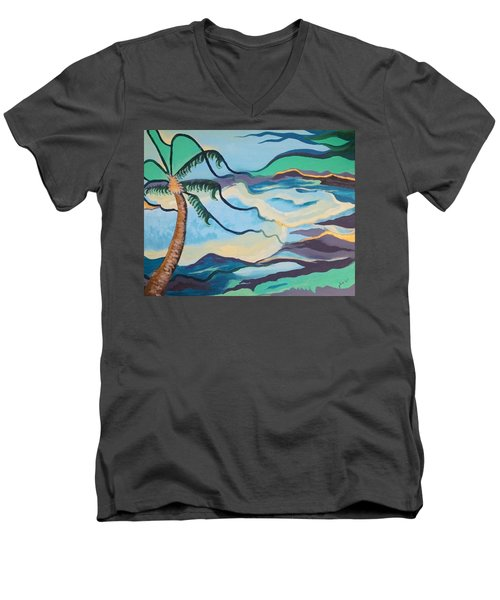 Jamaican Sea Breeze Men's V-Neck T-Shirt