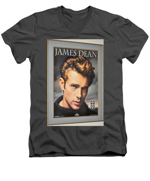 James Dean Hollywood Legend Men's V-Neck T-Shirt