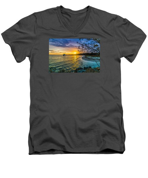 James Island Sunrise - Melton Peter Demetre Park Men's V-Neck T-Shirt