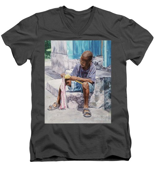 James Men's V-Neck T-Shirt