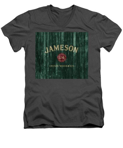 Jameson Irish Whiskey Barn Door Men's V-Neck T-Shirt