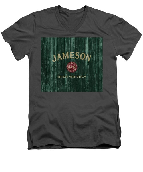 Jameson Irish Whiskey Barn Door Men's V-Neck T-Shirt