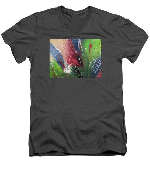 Jammin Men's V-Neck T-Shirt by Sharyn Winters