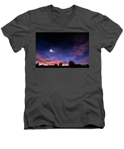 January 31, 2016 Sunset Men's V-Neck T-Shirt