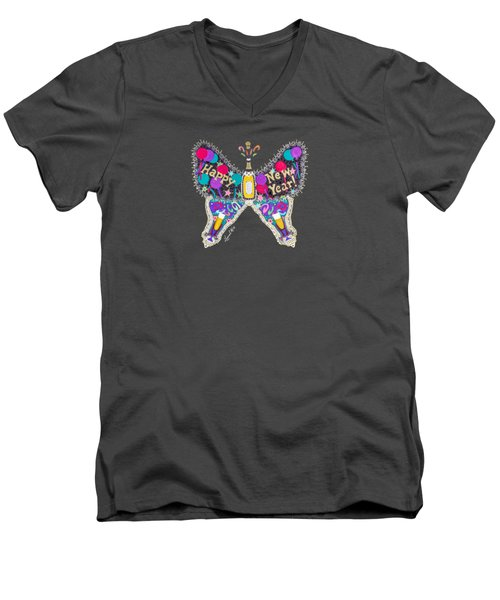 January Butterfly Men's V-Neck T-Shirt