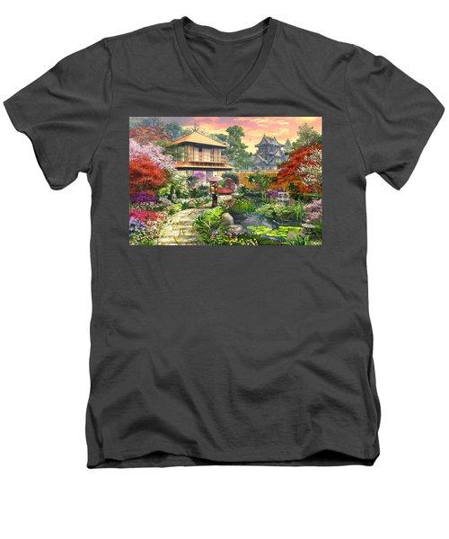 Japan Garden Variant 2 Men's V-Neck T-Shirt