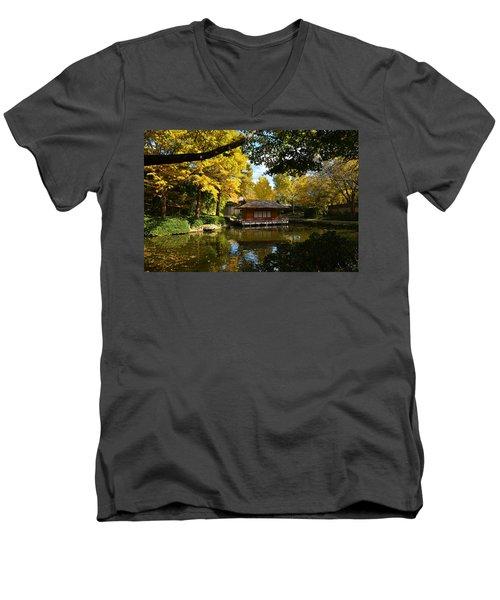 Japanese Gardens 2541a Men's V-Neck T-Shirt