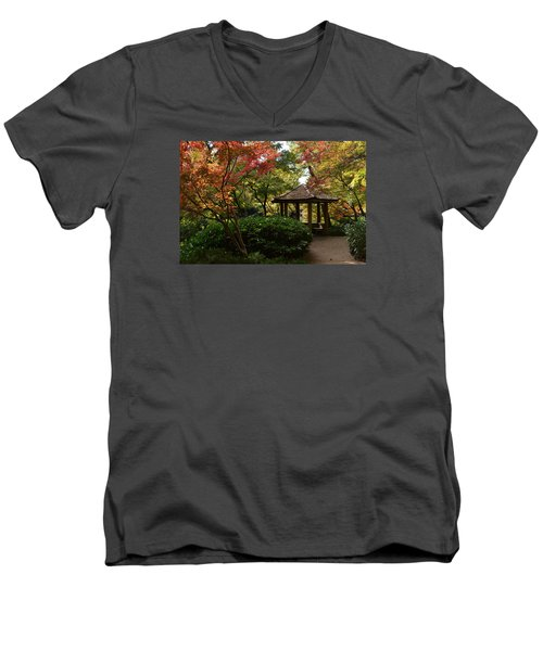 Men's V-Neck T-Shirt featuring the photograph Japanese Gardens 2577 by Ricardo J Ruiz de Porras