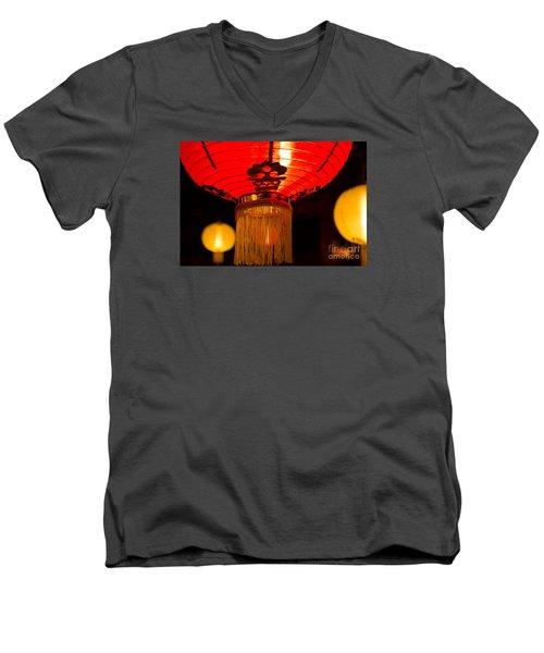 Japanese Lantern 1 Men's V-Neck T-Shirt