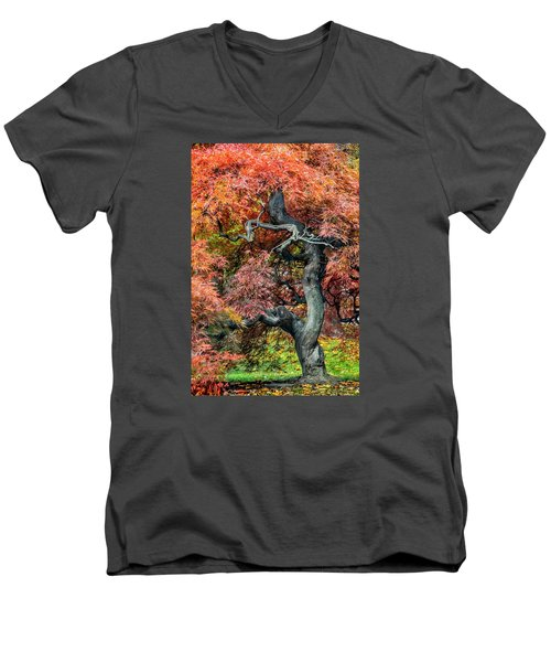 Japanese Maple - Aged To Perfection Men's V-Neck T-Shirt
