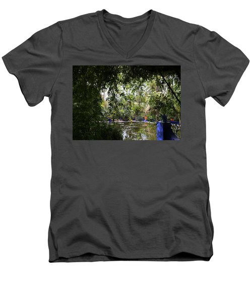 Men's V-Neck T-Shirt featuring the photograph Jardin Majorelle 2 by Andrew Fare