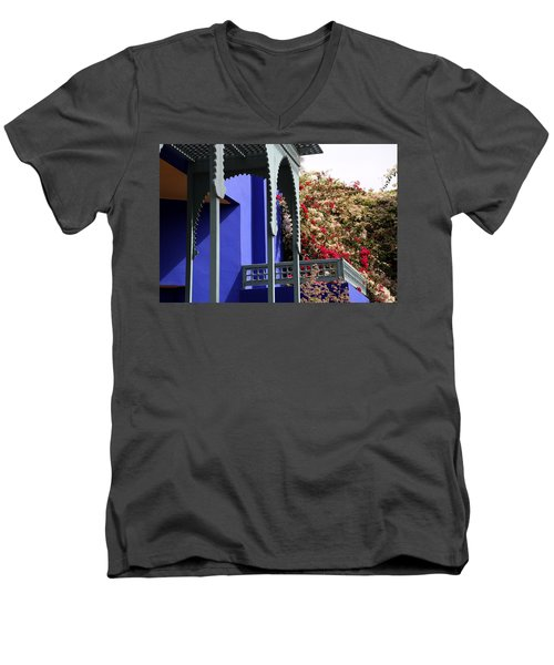 Men's V-Neck T-Shirt featuring the photograph Jardin Majorelle 3 by Andrew Fare