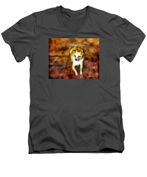 Men's V-Neck T-Shirt featuring the photograph Jasper by Rhonda Strickland