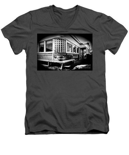 Men's V-Neck T-Shirt featuring the photograph Jax Diner, Truckee by Vinnie Oakes
