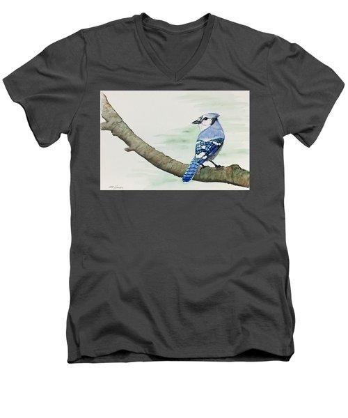Jay In The Pine Men's V-Neck T-Shirt