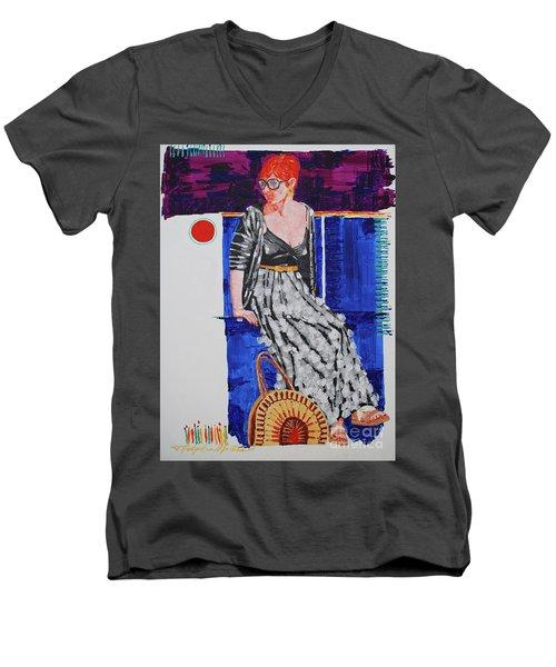 Jazz On The Square Men's V-Neck T-Shirt