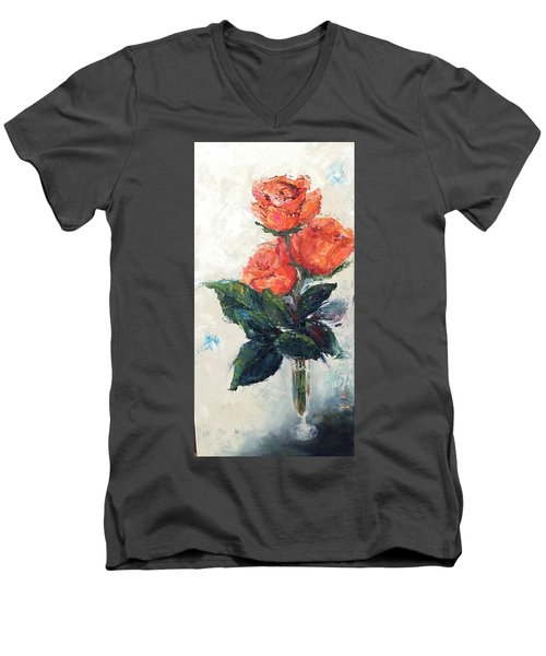 Jeannie's Roses Men's V-Neck T-Shirt