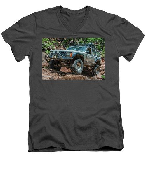 Jeep Cherokee Men's V-Neck T-Shirt