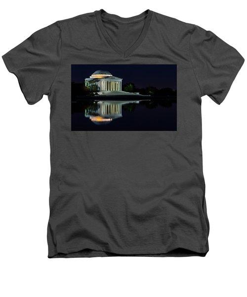 The Jefferson At Night Men's V-Neck T-Shirt