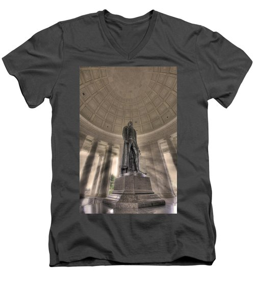 Jefferson Memorial Men's V-Neck T-Shirt