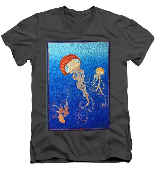 Jellies Of The Sea Men's V-Neck T-Shirt