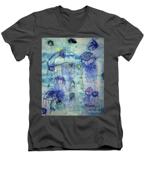 Jellyfish I Men's V-Neck T-Shirt