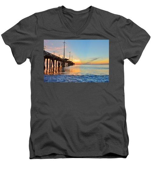 Jennette's Pier Aug. 16 Men's V-Neck T-Shirt