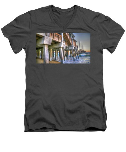 Jennette's Pier Men's V-Neck T-Shirt