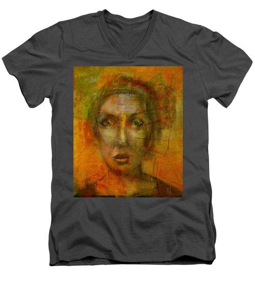 Jenny Men's V-Neck T-Shirt by Jim Vance