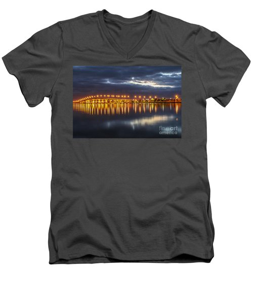Jensen Beach Causeway #5 Men's V-Neck T-Shirt by Tom Claud