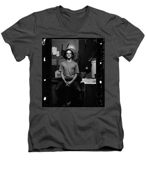Self Portrait, In Darkroom, 1972 Men's V-Neck T-Shirt