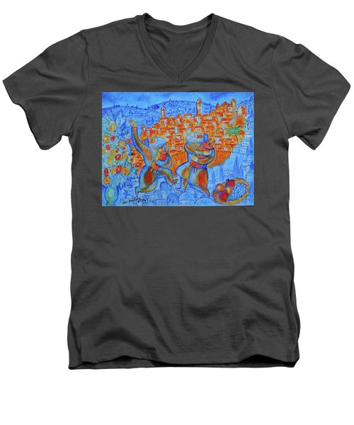 Jerusalem Of Gold Men's V-Neck T-Shirt