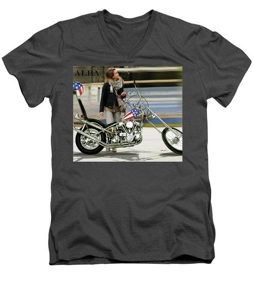 Jessica Alba, Captain America, Easy Rider Men's V-Neck T-Shirt