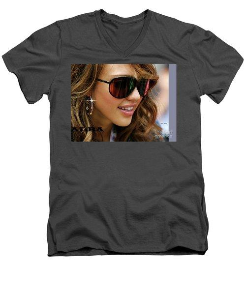 Jessica Alba, Cool Shades Men's V-Neck T-Shirt