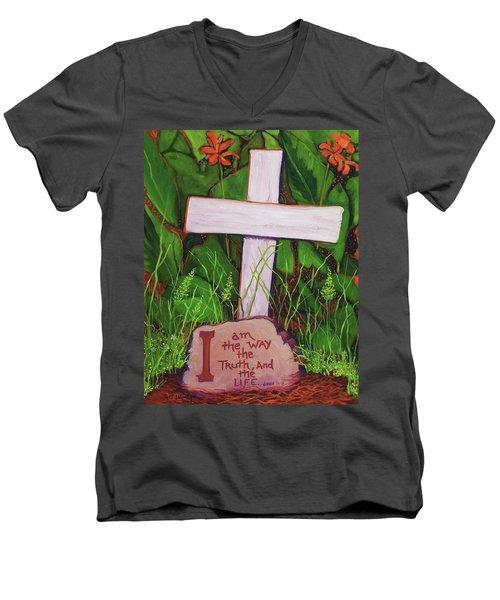 Garden Wisdom, The Way Men's V-Neck T-Shirt