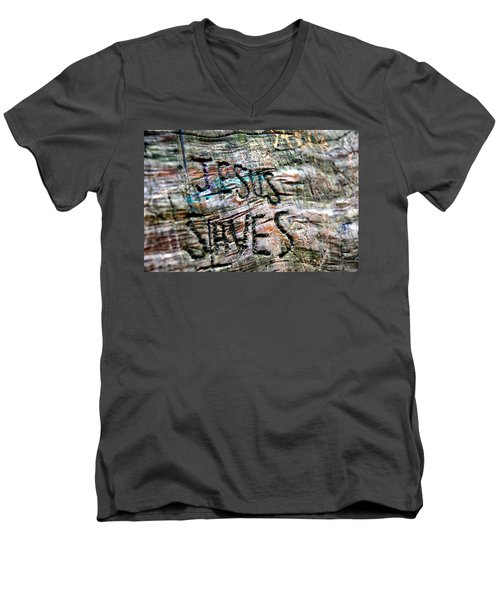 Jesus Saves Men's V-Neck T-Shirt