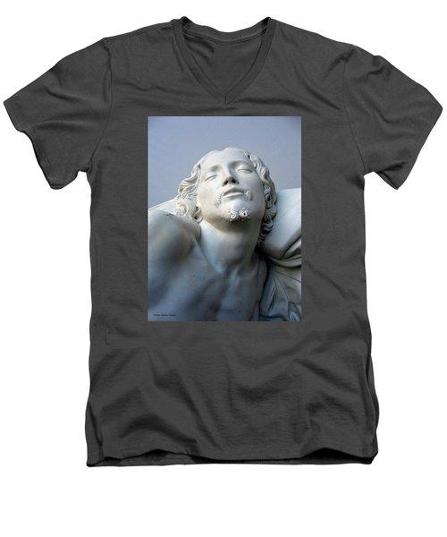 Jesus Men's V-Neck T-Shirt by Suhas Tavkar