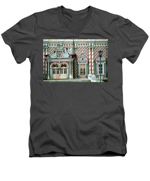 Jesus, Trinity Lavra Of St. Sergius Monastery Sergiev Posad Men's V-Neck T-Shirt by Wernher Krutein