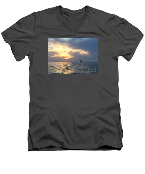 Watching Over The Inlet Men's V-Neck T-Shirt