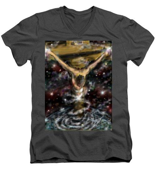 Jesus World Men's V-Neck T-Shirt