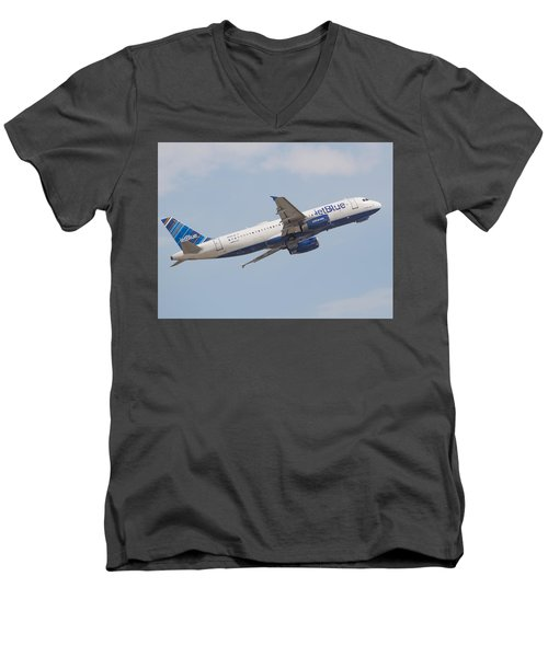 Jet Blue Men's V-Neck T-Shirt