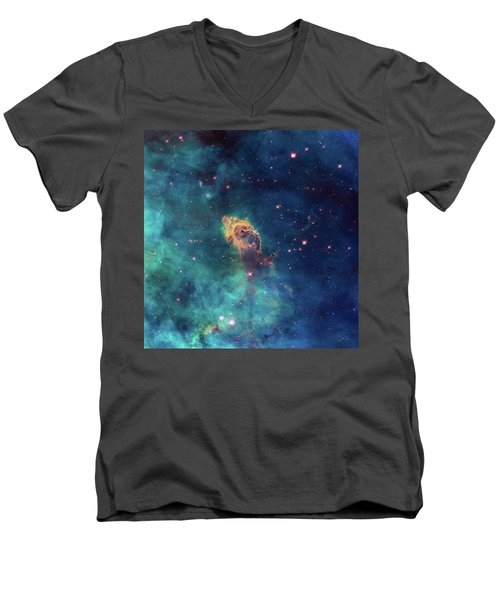 Men's V-Neck T-Shirt featuring the photograph Jet In Carina by Marco Oliveira