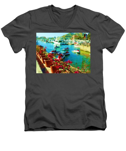 Jet Skis And Flowers Men's V-Neck T-Shirt